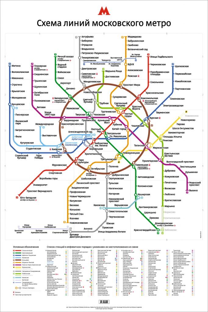 Moscow Metro map redesign by Art. Lebedev Studio