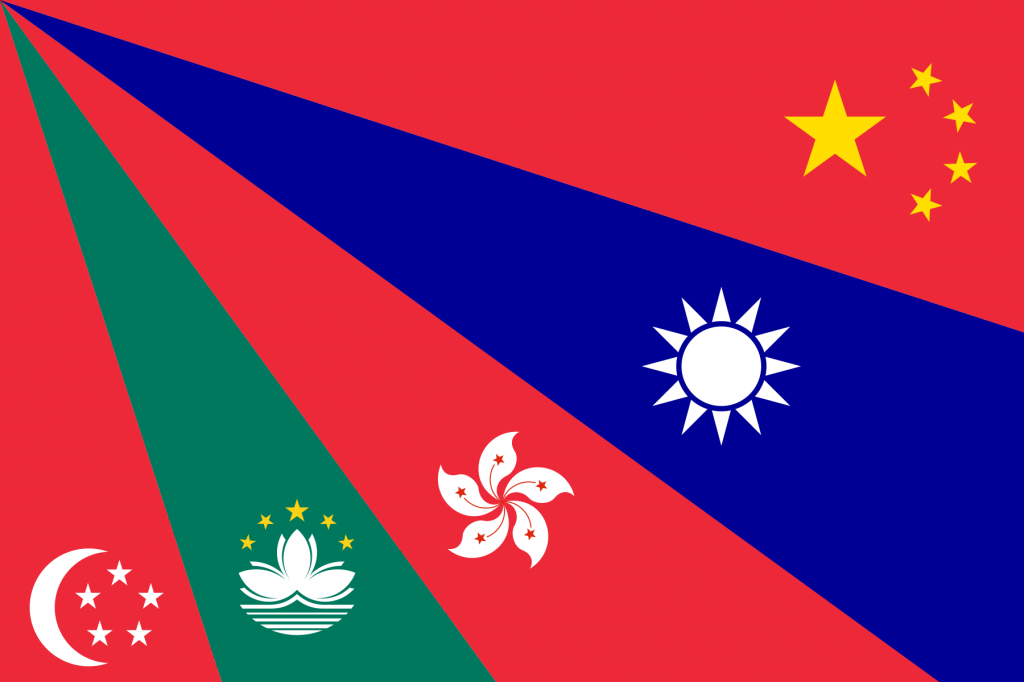 Chinese Language Flag - radial